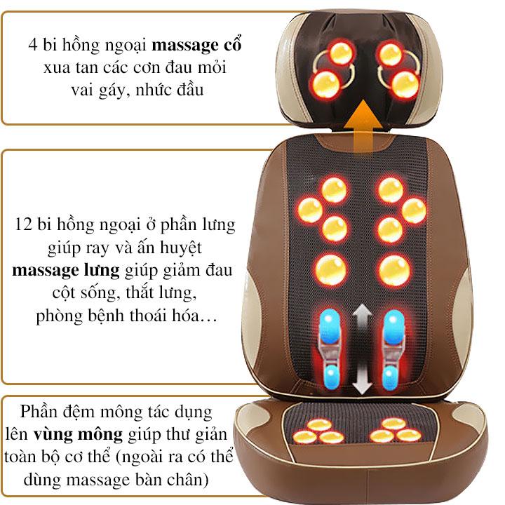 Đệm massage toàn thân FUKI JAPAN FK-N80 (Thế hệ mới)