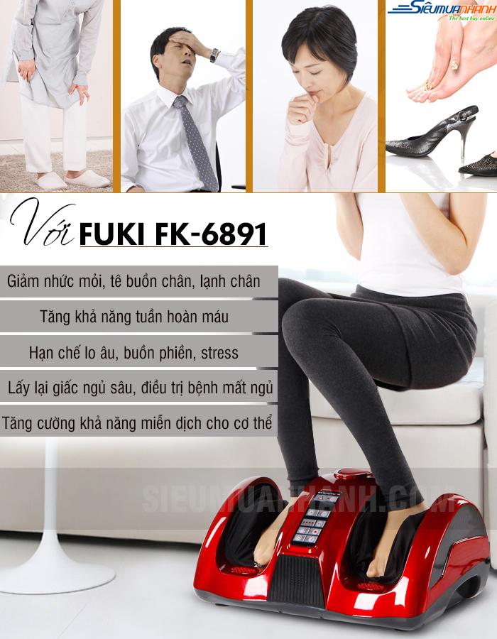 Máy massage chân hồng ngoại Fuki FK-6893