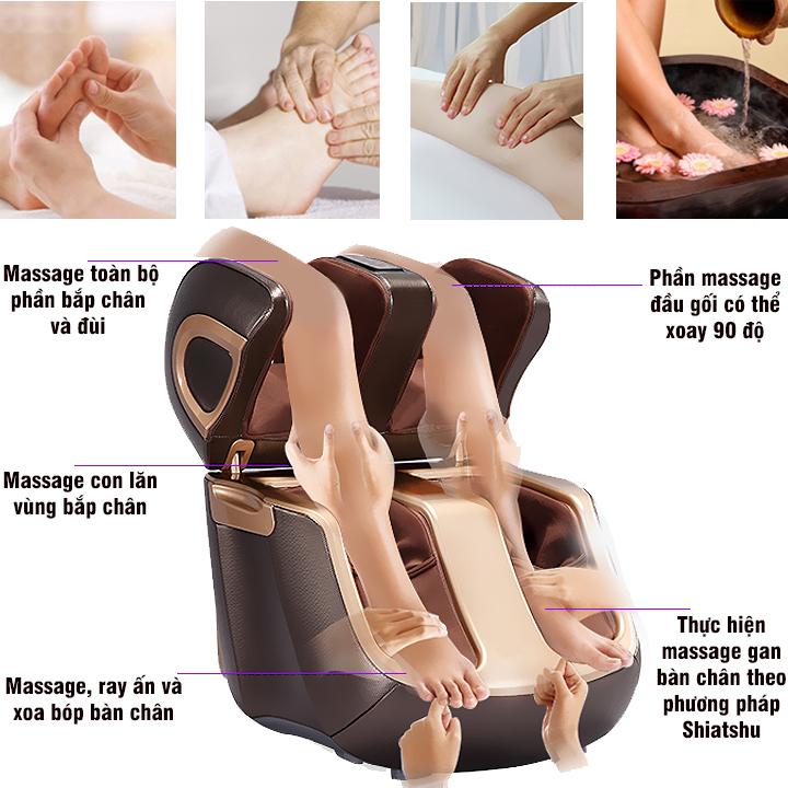 Máy massage chân thông minh 4D Fuki FK-988 Plus