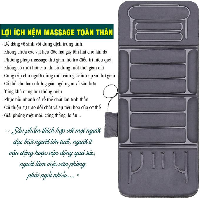 Nệm massage toàn thân Fuki Japan FK-M699 (dòng cao cấp)